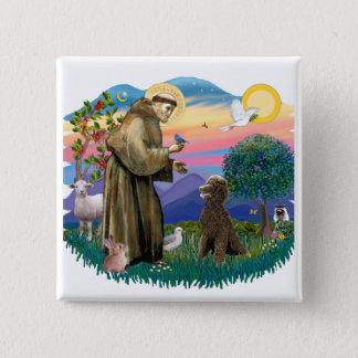 Poodle (Standard Chocolate) 15 Cm Square Badge
