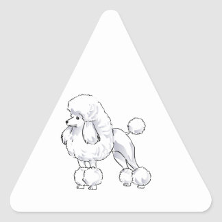 Poodle Triangle Stickers