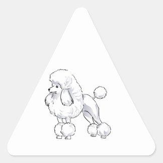 Poodle Triangle Sticker
