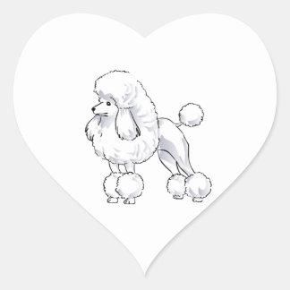 Poodle Heart Sticker