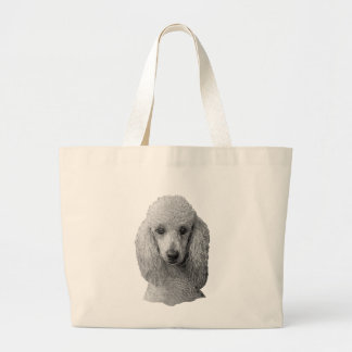 Poodle - Stylized Image - Add Your Own Text Bags