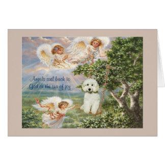 Poodle Sympathy Card