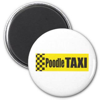 Poodle Taxi Magnet