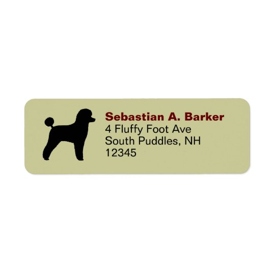 Poodle (Toy, Lamb Cut) Return Address Label