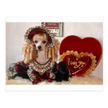 Poodle Valentine Love Dog Victorian Picture Postcards