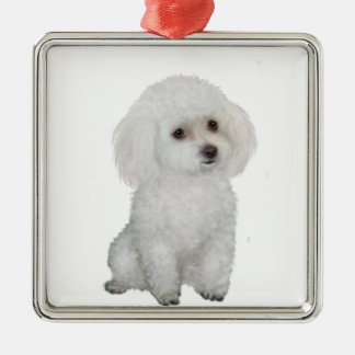 Poodle - white 1 christmas ornament