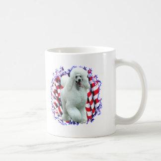 Poodle (wht) Patriot Coffee Mug