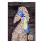 Poodle with the Pearl Earring Greeting Cards