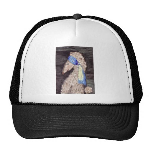 Poodle with the Pearl Earring Mesh Hats