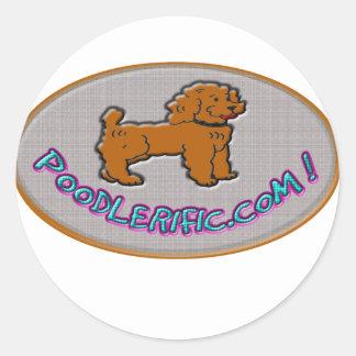 Poodlerific design round sticker
