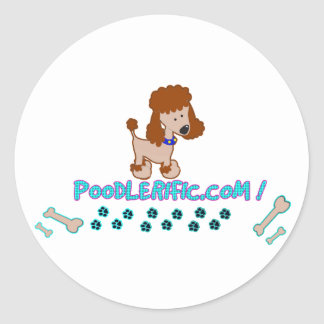 Poodlerific Doggy Goodness !! Round Sticker