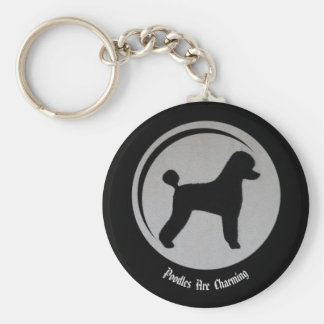 Poodles  Are  Charming Key Chain