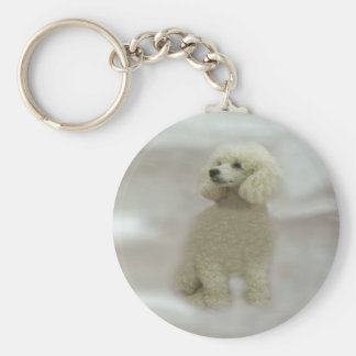 Poodles Are Heavenly Keychain