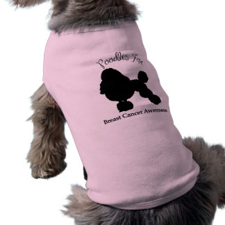 Poodles For Breast Cancer Awareness Sleeveless Dog Shirt