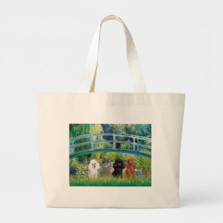 Poodles (four) - Bridge Large Tote Bag