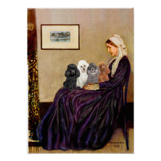 Poodles (four) - Whistlers Mother Poster