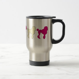 Poodles On Parade Travel Mug