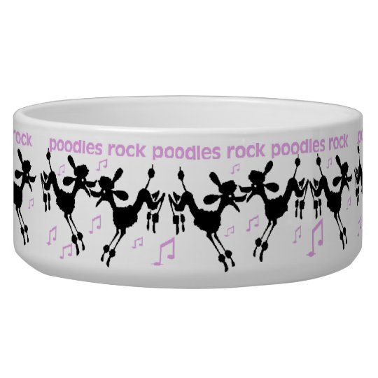 Poodles Rock Dog Bowl