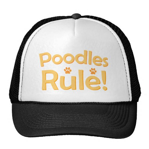 Poodles Rule! Mesh Hats