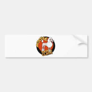 Poodles - Sass & Class Bumper Sticker