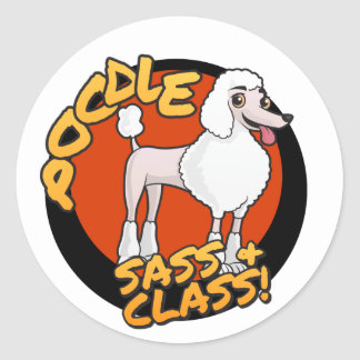 Poodles - Sass & Class Round Sticker