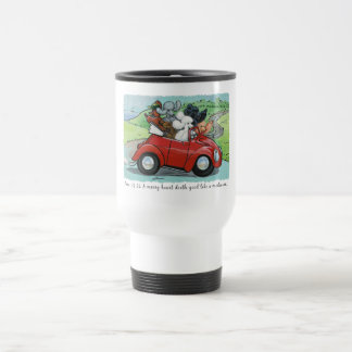 Poodles Vintage Convertible Scripture Travel Mug