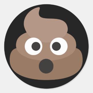 Pooh Emoji Classic Round Sticker