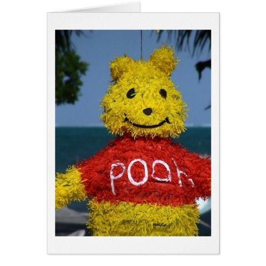 Pooh Piñata Card