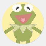 Pook-a-Looz Kermit the Frog Round Sticker