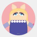 Pook-a-Looz Miss Piggy Round Sticker