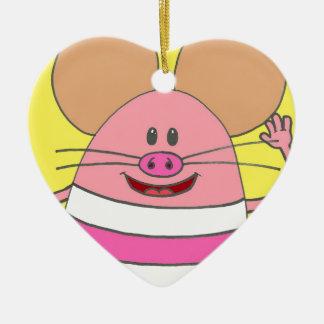 Pookey The Mousepig Merchandise Ceramic Heart Decoration