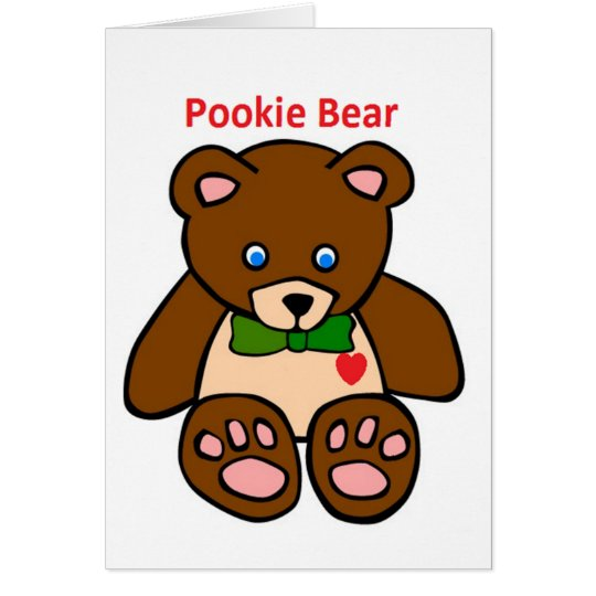 Pookie Beard Car Card