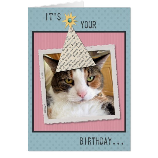 Pookie the Cat Birthday Greeting Card