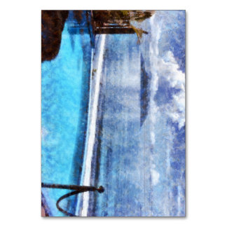 Pool and ocean table cards