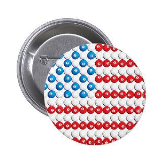Pool Ball American Flag Pin