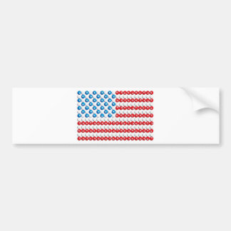 Pool Ball American Flag Bumper Sticker