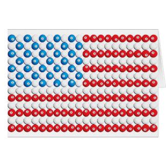 Pool Ball American Flag Card