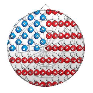 Pool Ball American Flag Dart Boards