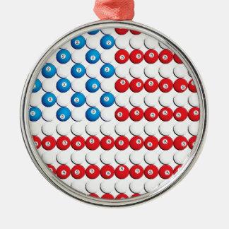 Pool Ball American Flag Ornaments
