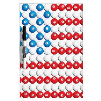 Pool Ball American Flag Dry Erase Board
