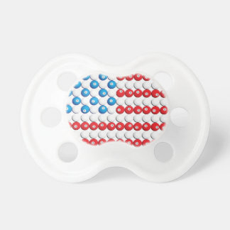 Pool Ball American Flag Pacifier