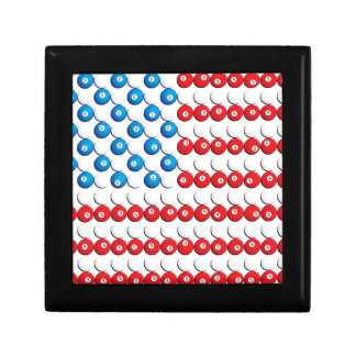 Pool Ball American Flag Jewelry Box