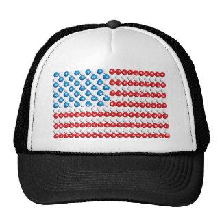 Pool Ball American Flag Trucker Hats