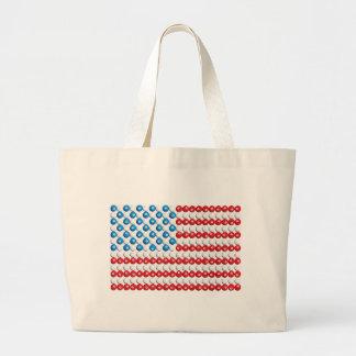 Pool Ball American Flag Jumbo Tote Bag