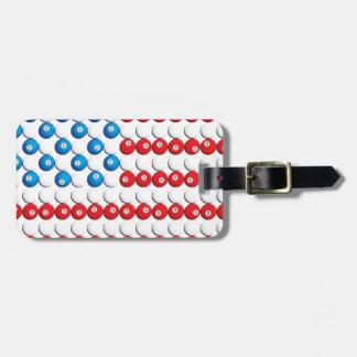 Pool Ball American Flag Luggage Tags
