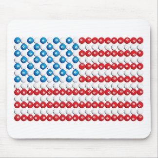 Pool Ball American Flag Mousepads