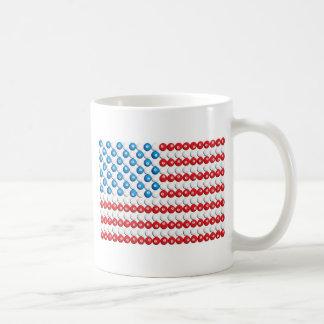 Pool Ball American Flag Mug