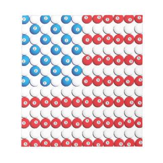 Pool Ball American Flag Memo Notepads