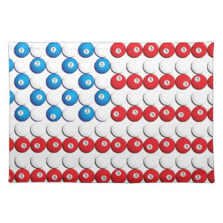 Pool Ball American Flag Placemat