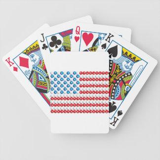 Pool Ball American Flag Poker Deck